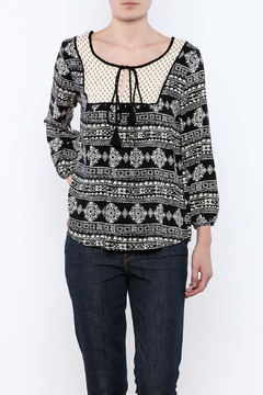 Shoptiques Product: Printed Peasant Top