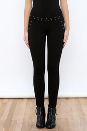 Active Studded Fitted Leggings - Side cropped