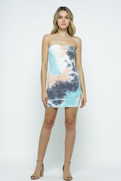 Shoptiques Product:  Tie-Dye Tube Dress
