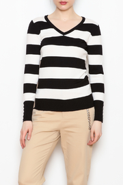 Active USA Striped V-Neck Sweater - Product Mini Image