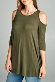 Active Basic Basic Cold Shoulder Top - Product Mini Image