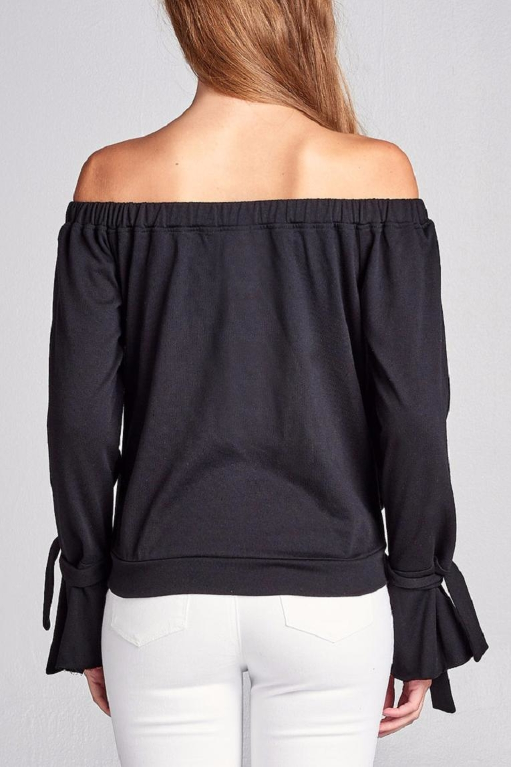 Active Basic Black Knit Top - Front Full Image