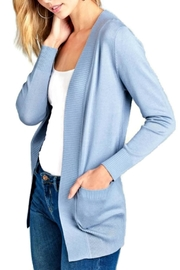 Active Basic Blue Open Cardigan - Product Mini Image