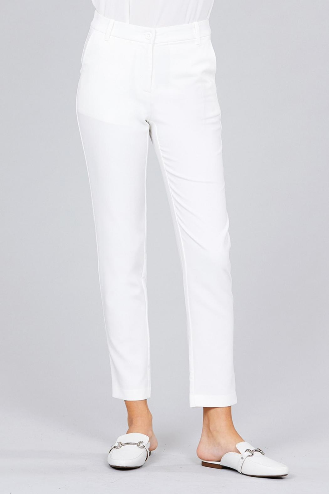 Active Basic Classic Seam Pants - Side Cropped Image