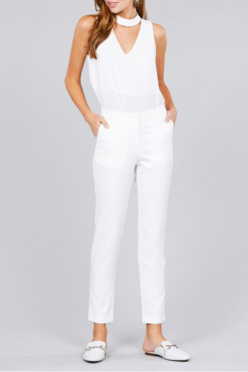 Active Basic Classic Seam Pants - Main Image