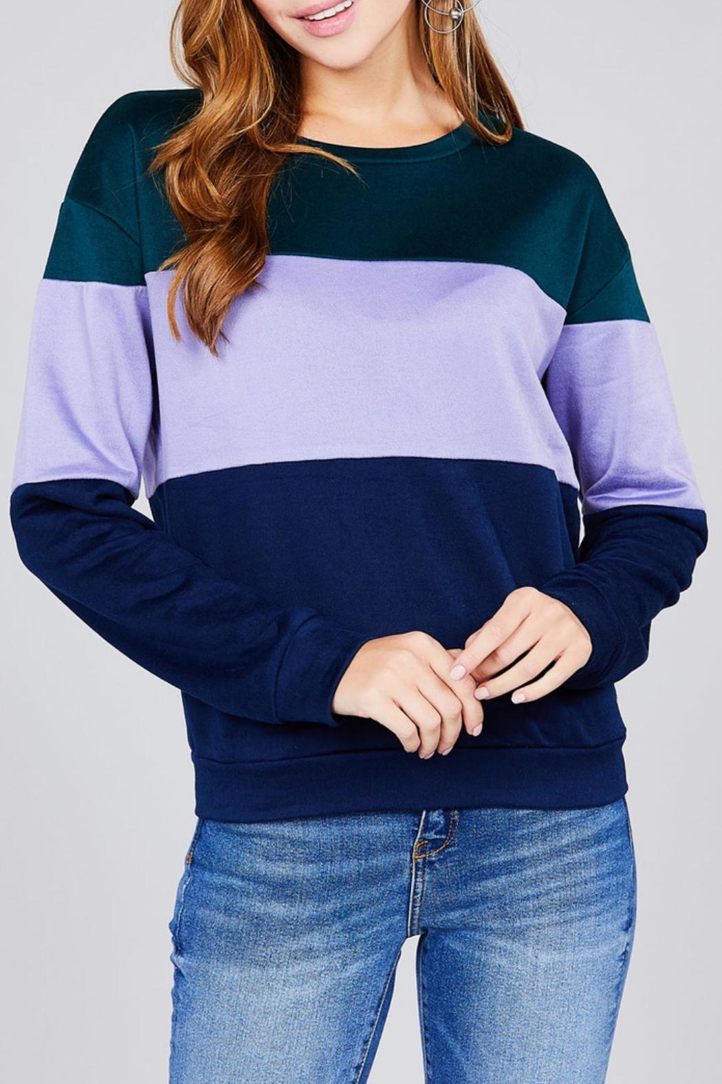 Active Basic Color Block Top - Front Full Image