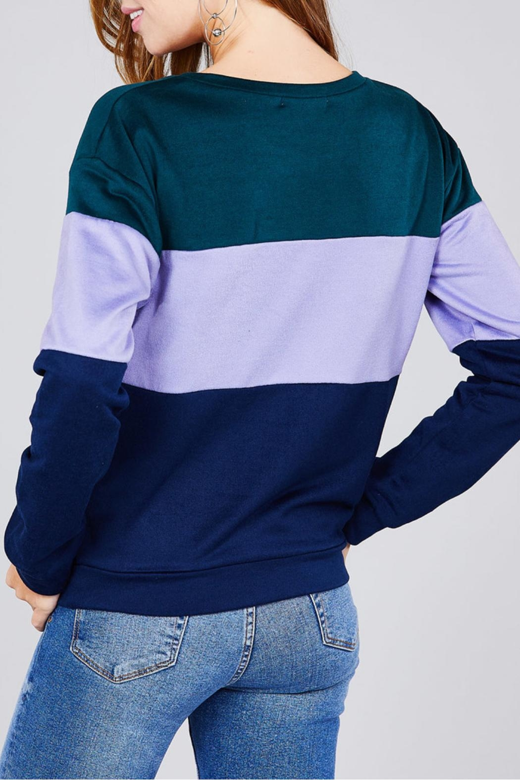 Active Basic Color Block Top - Side Cropped Image