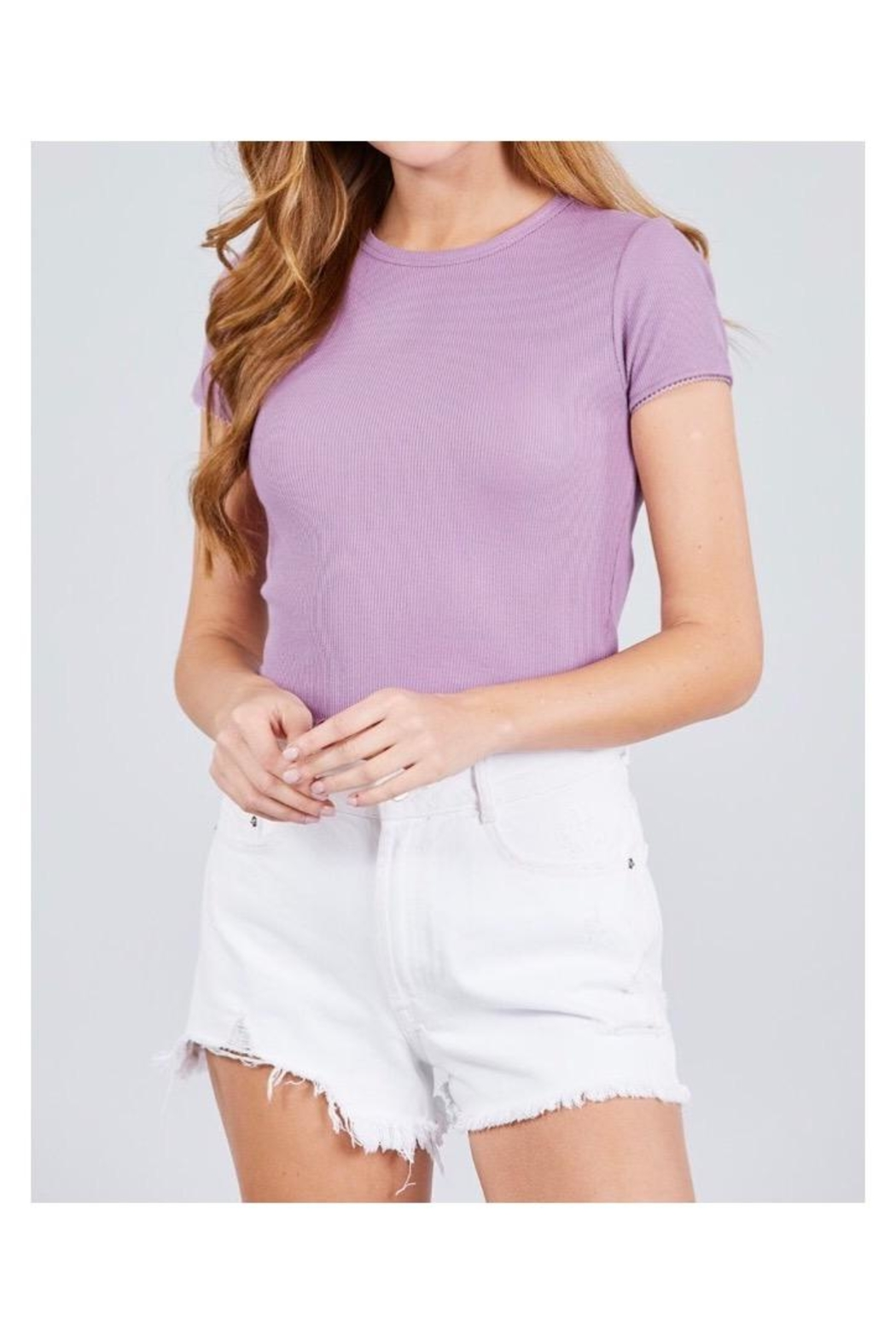 Active Basic Crew Neck Top - Front Cropped Image