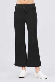 Active Basic Cropped Flare Sweatpants - Front full body