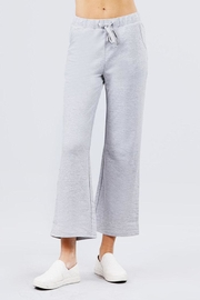 Active Basic Cropped Flare Sweatpants - Side cropped