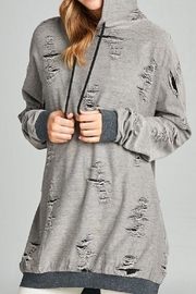 Active Basic Distressed French-Terry Hoodie - Front cropped