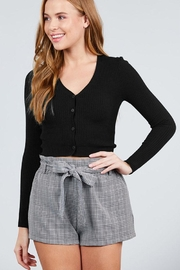 Active Basic Dropped Button-Down Cardigan - Front cropped
