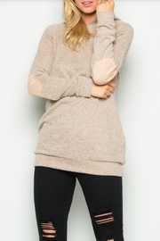 Active Basic Elbow Patch Hoodie - Product Mini Image