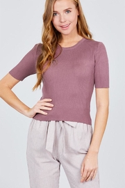 Active Basic Elbow Sleeve Top - Product Mini Image