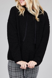 Active Basic Faux_fur Hoodie Top - Product Mini Image