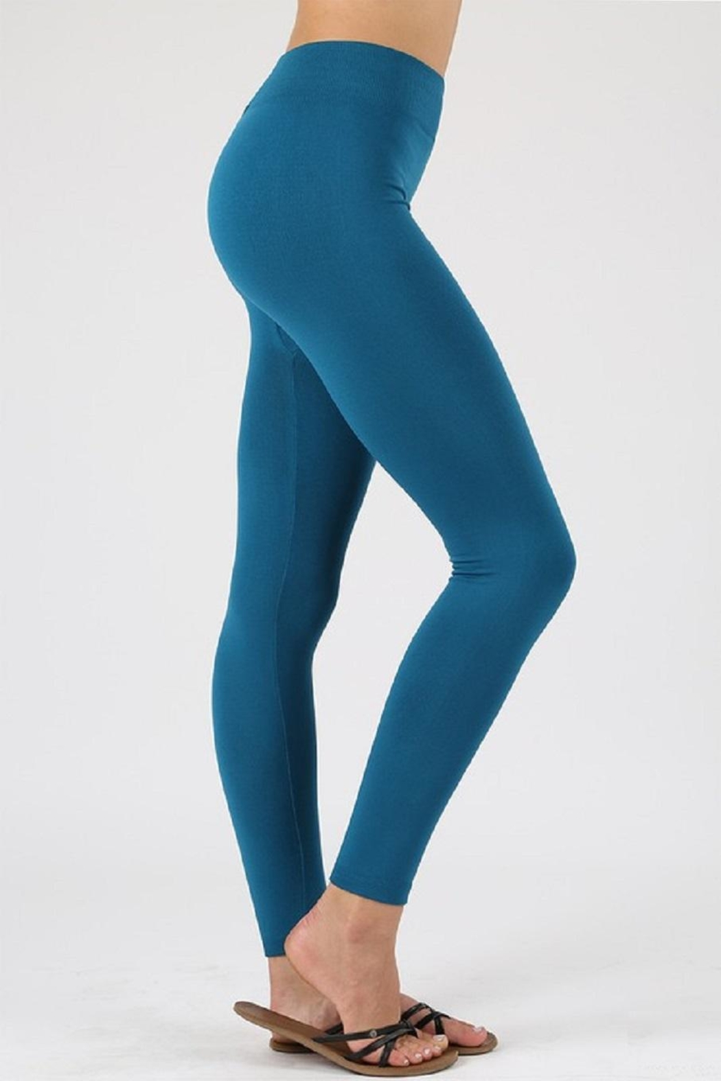 Active Basic Fleece Leggings - Front Cropped Image