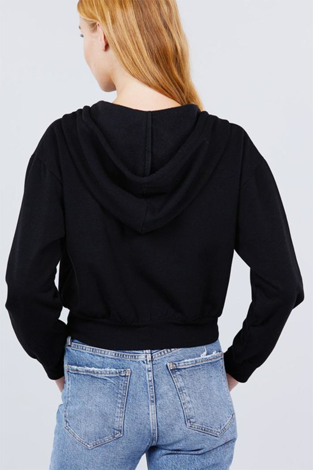 Active Basic French Terry Hoodie - Back Cropped Image