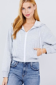 Active Basic French Terry Hoodie - Front cropped