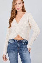 Active Basic Fuzzy Twist Sweater - Product Mini Image