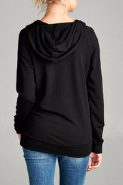 Active Basic Hooded Knit Top - Side cropped