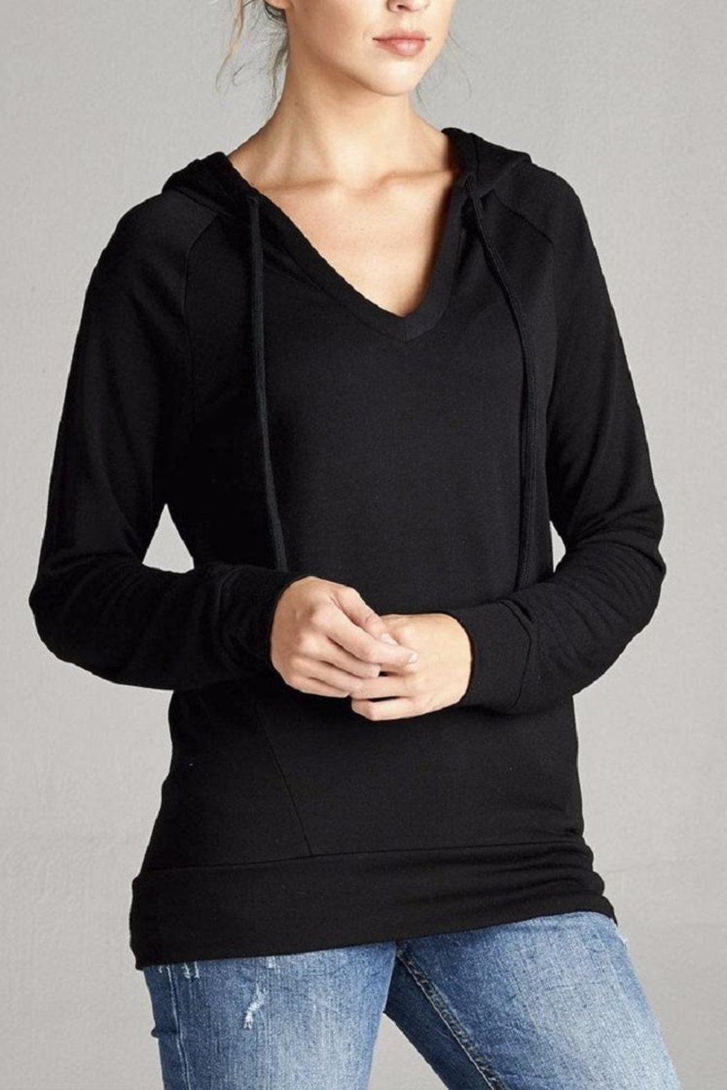 Active Basic Hooded Knit Top - Main Image