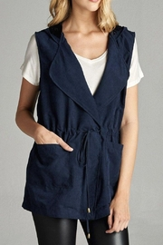 Active Basic Hooded Sleeveless Vest - Product Mini Image