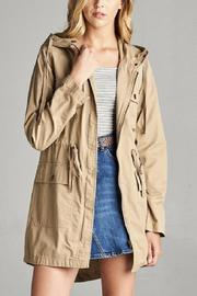 Active Basic Hooded Utility Jacket - Front cropped