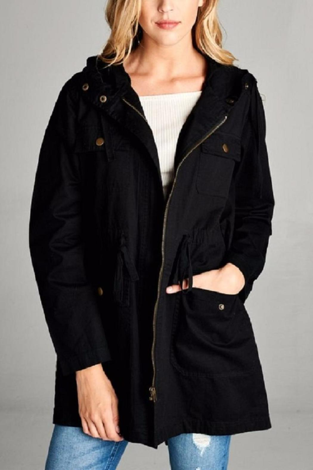Active Basic Hooded Utility Jacket - Front Full Image