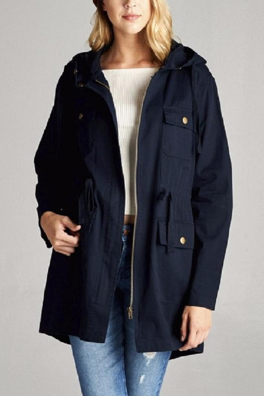 Active Basic Hooded Utility Jacket - Front Cropped Image