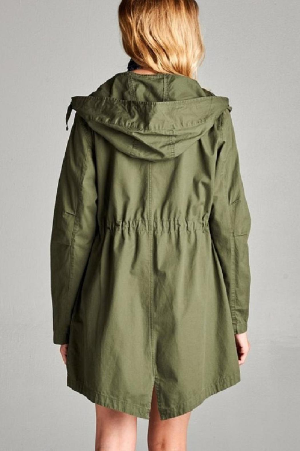 Active Basic Hooded Utility Jacket - Side Cropped Image