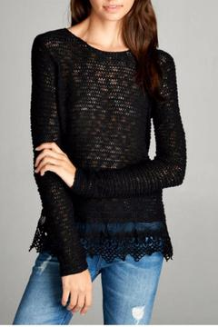 Active Basic Lace Bottom Sweater - Alternate List Image