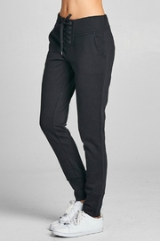 Active Basic Lace Up Joggers - Front full body
