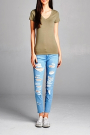 Active Basic Light Olive Tee - Front cropped