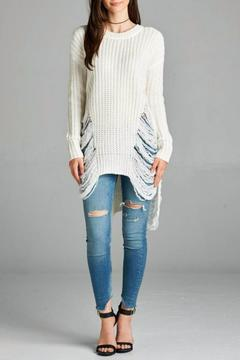 Shoptiques Product: Long Distressed Sweater