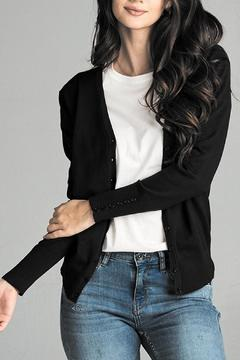 Active Basic Long-Sleeve V-Neck Cardigan - Alternate List Image