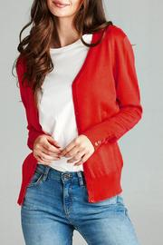 Active Basic Long-Sleeve V-Neck Cardigan - Product Mini Image