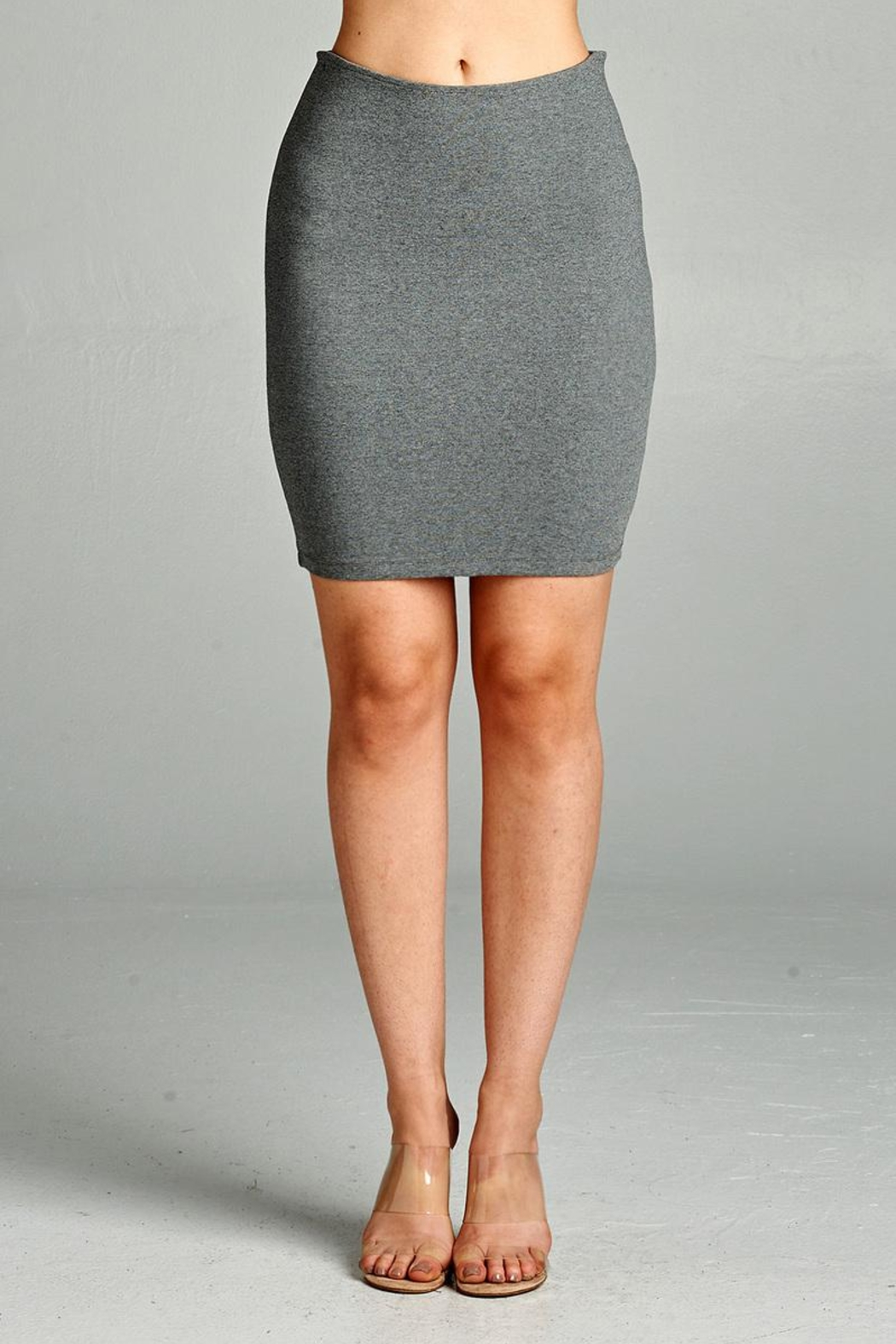 Active Basic Mini Ponte Skirt - Front Cropped Image