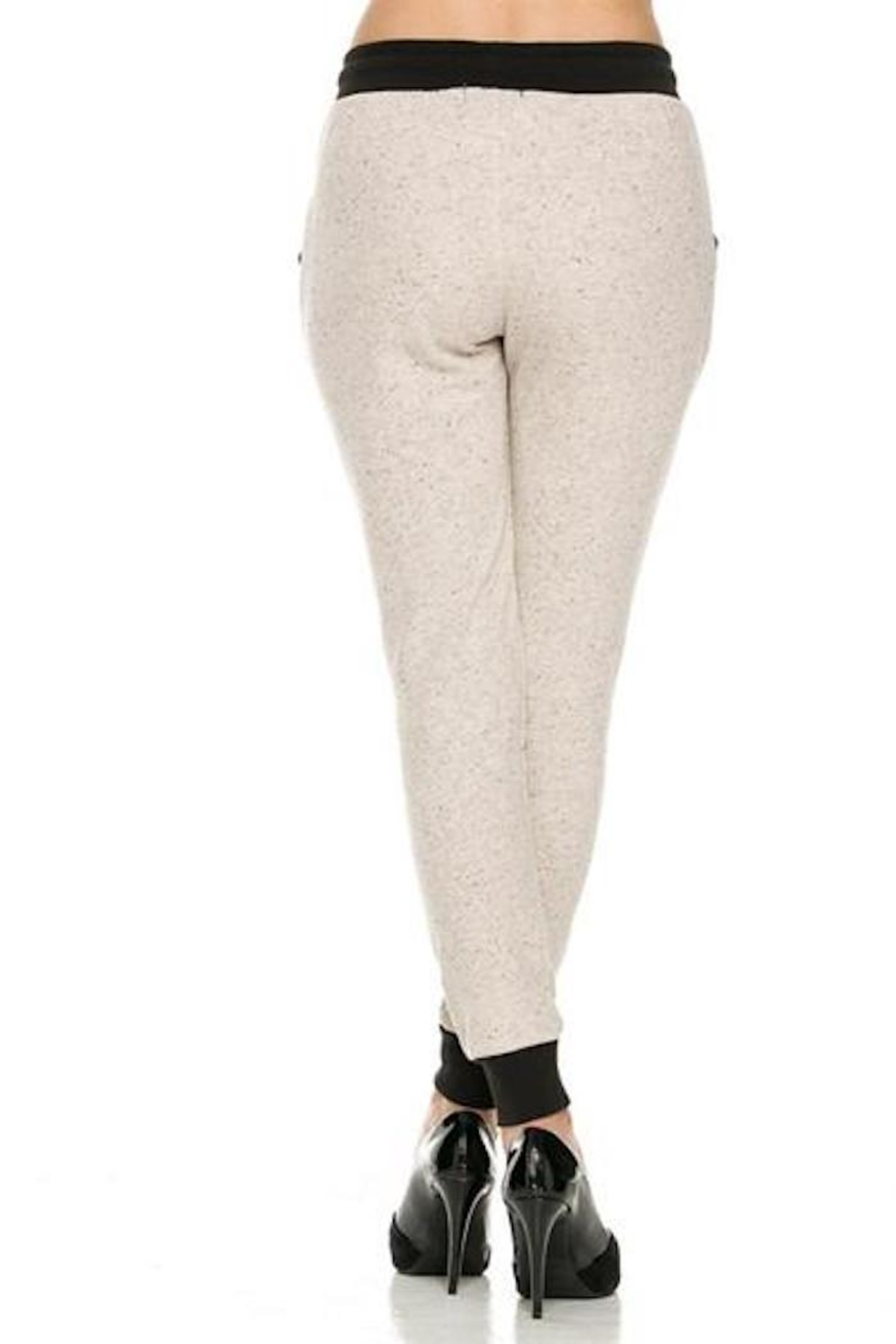 Active basic oatmeal french terry jogger from kansas by for Active salon supplies