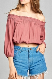 Active Basic Off-Shoulder Crop Top - Product Mini Image