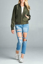 Active Basic Olive Bomber Jacket - Product Mini Image