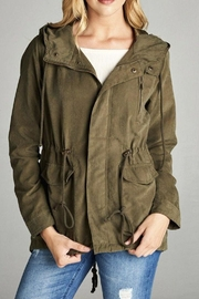 Active Basic Olive Utility Jacket - Product Mini Image