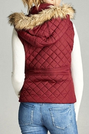 Active Basic Quilted Fur Vest - Front full body