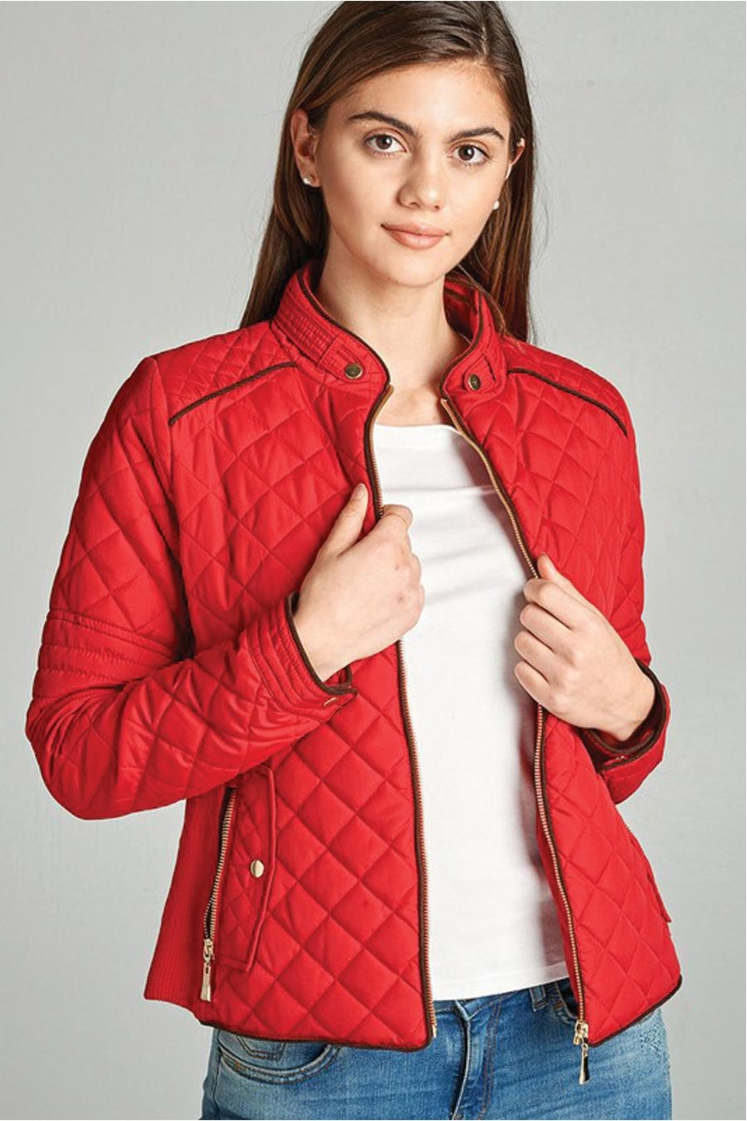 Active Basic Quilted Padded Jacket - Main Image