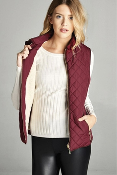 Active Basic Quilted Padded Vest With Fleece Lining - Product List Image