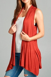 Active Basic Rust Cardigan Vest - Side cropped