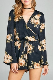 Active Basic Satin Floral Romper - Front cropped