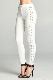 Active Basic Side Lace Skinny-Pants - Front full body