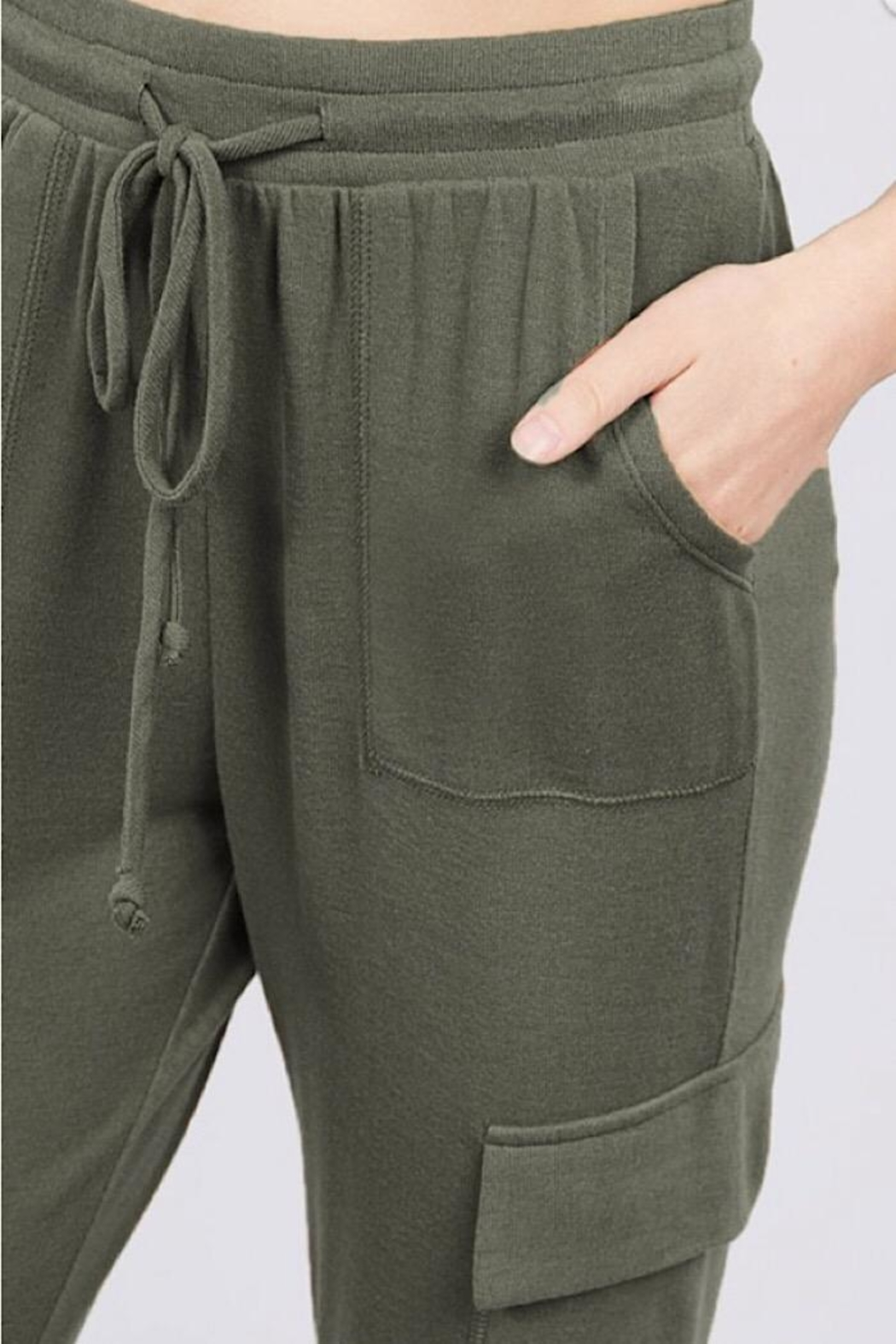Active Basic Side Pocket Sweats - Side Cropped Image