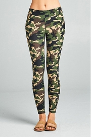 Active Basic Soft Camouflage Leggings - Front full body