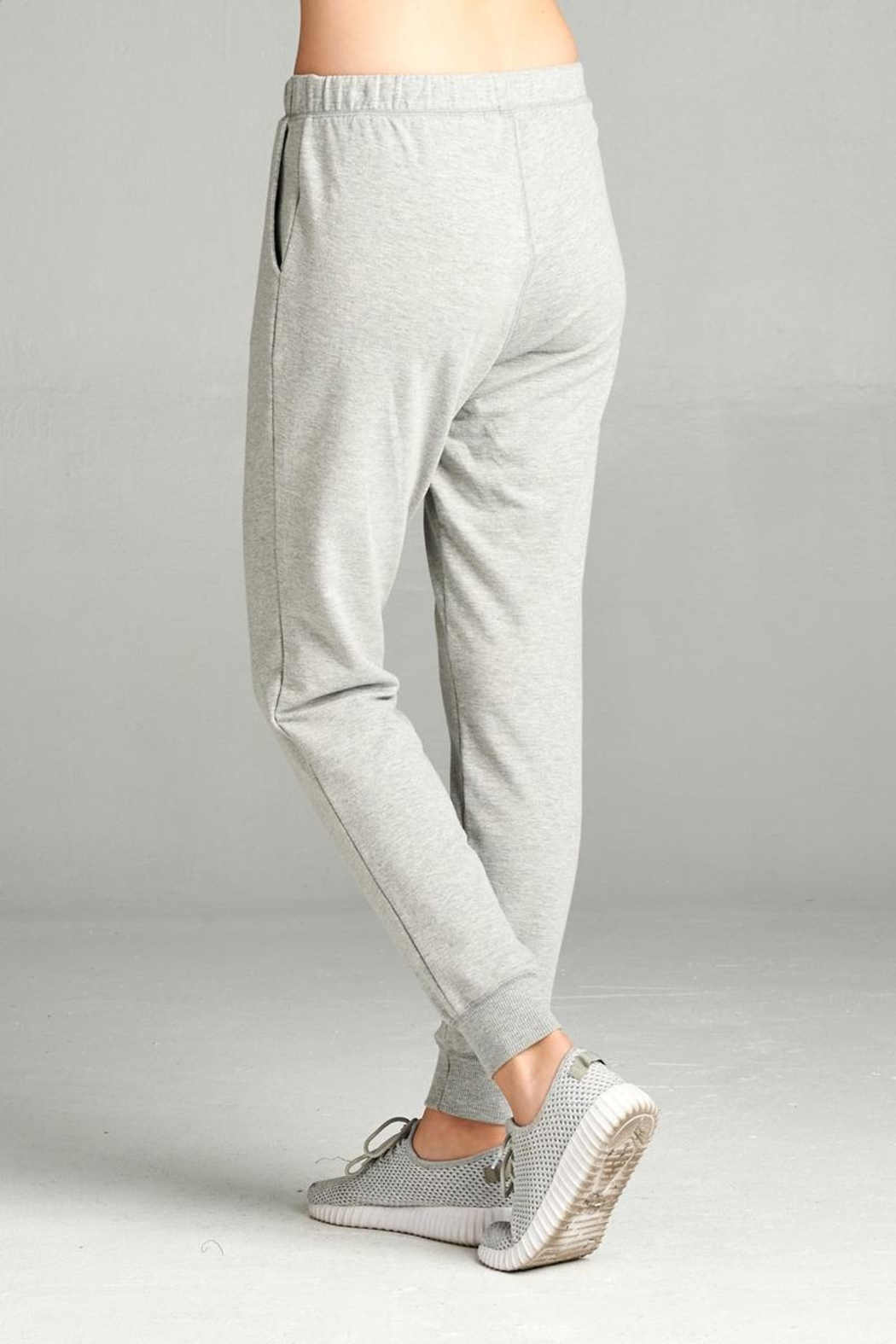 Active Basic Soft Drawstring Joggers - Front Full Image